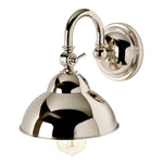 Waterworks Derby Wall Mounted Small Sconce in Nickel