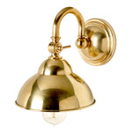 Waterworks Derby Wall Mounted Small Sconce in Unlacquered Brass