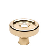 "Enfield 1 1/4"" Knob in Unlacquered Brass"