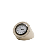 Waterworks Leather Clock in Ivory