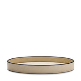 Waterworks Leather Oval Tray in Ivory