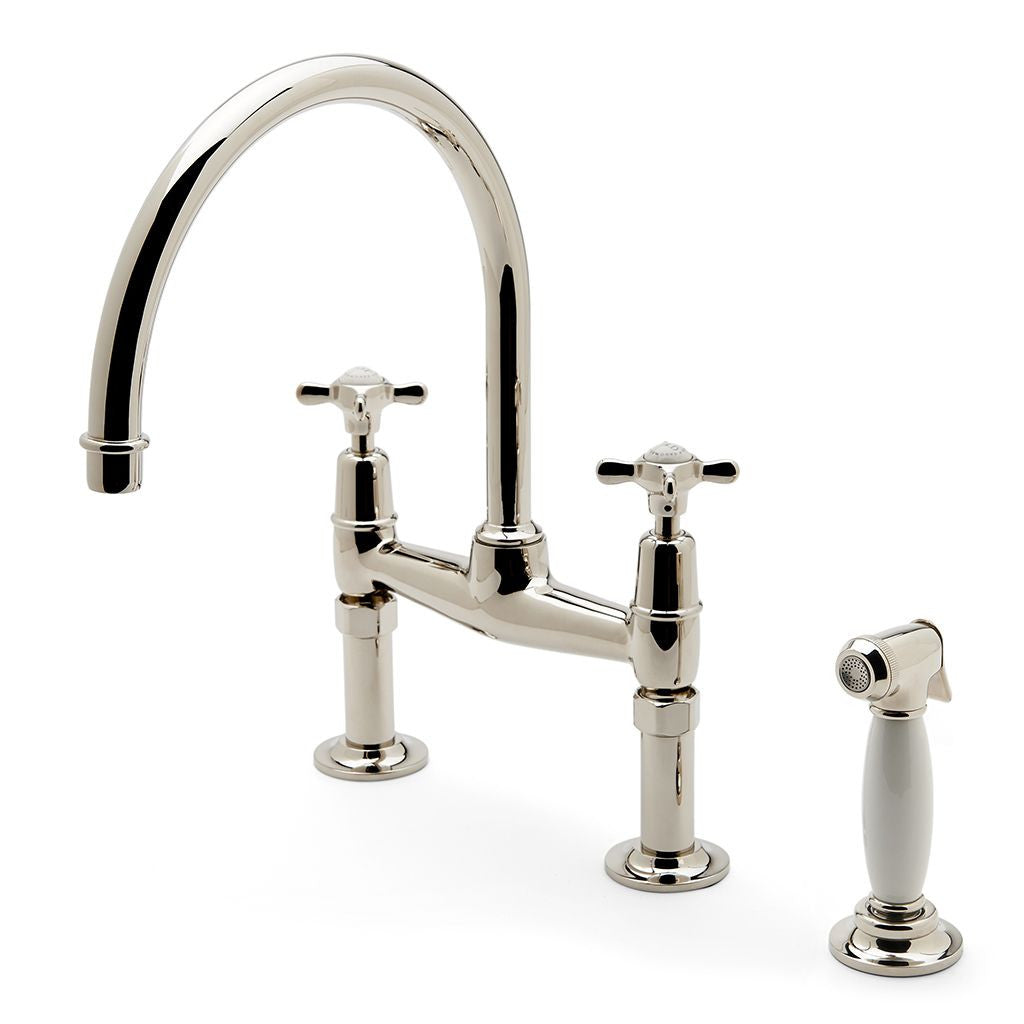 Waterworks Easton Classic Kitchen Faucet with Metal Handspray in ...
