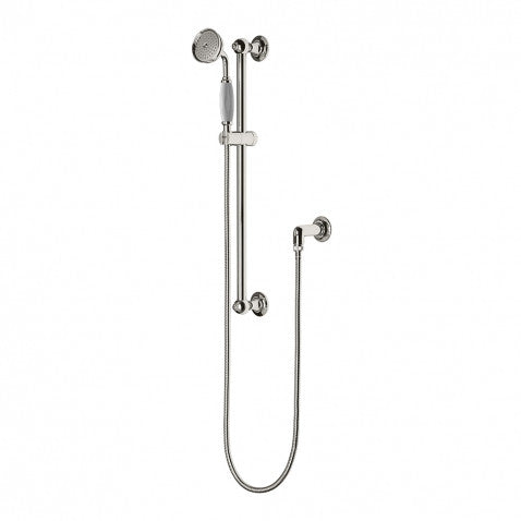 Waterworks Easton Classic Handshower on Bar with Metal Handle in Chrome