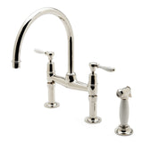 Waterworks Easton Classic Gooseneck Kitchen Faucet in Unlacquered Brass