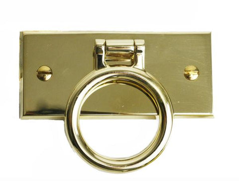 "Ensign 4"" Drop Handle Pull in Unlacquered Brass"