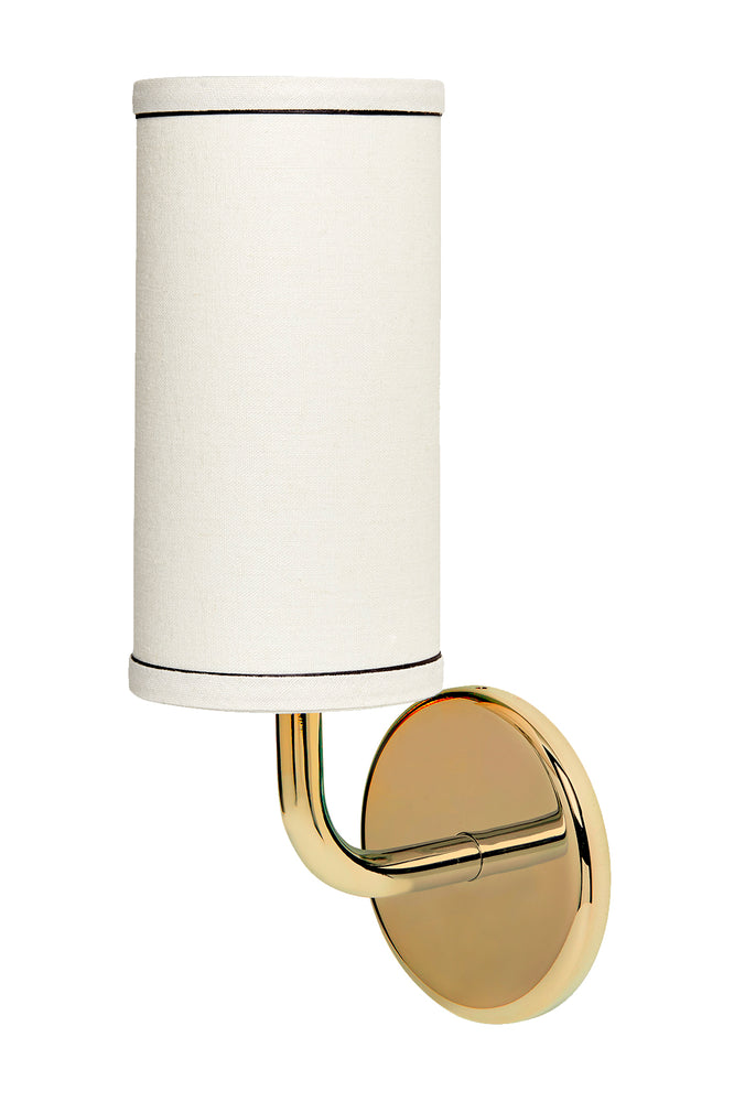 Waterworks Flyte Wall Mounted Single Arm Sconce in Unlacquered Brass