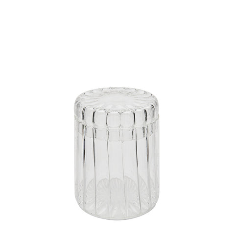 Waterworks Flute Container with Lid in Clear