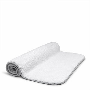 "Waterworks Figura Bath Rug 25"" x 72"" in White/Gray"