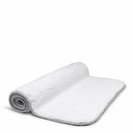 "Waterworks Figura Bath Rug 25"" x 39"" in White/Gray"