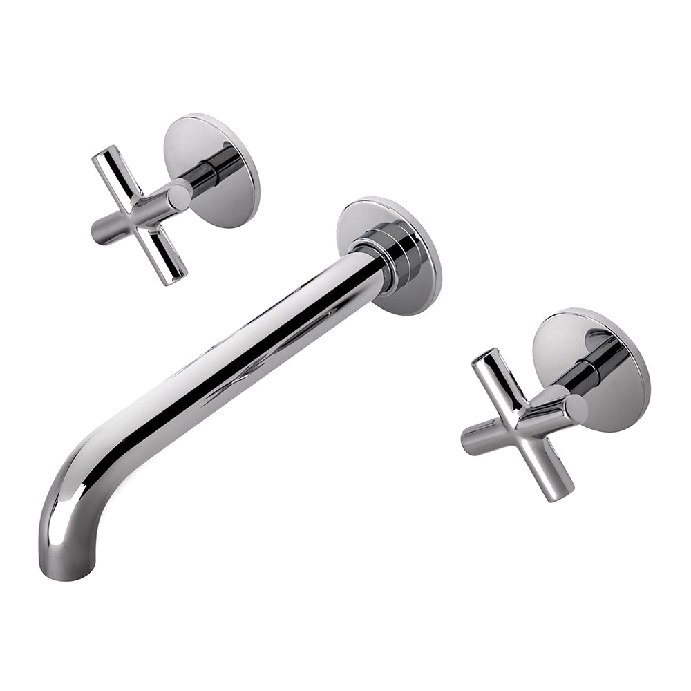 Waterworks Flyte Low Profile Wall Mounted Lavatory Faucet in Chrome