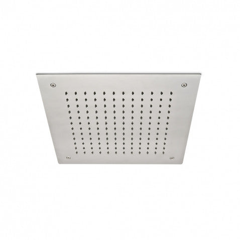 "Waterworks Formwork 15"" Recessed Shower Head in Stainless Steel"