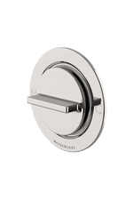 Waterworks Formwork Thermostatic Control Valve Trim in Matte Nickel