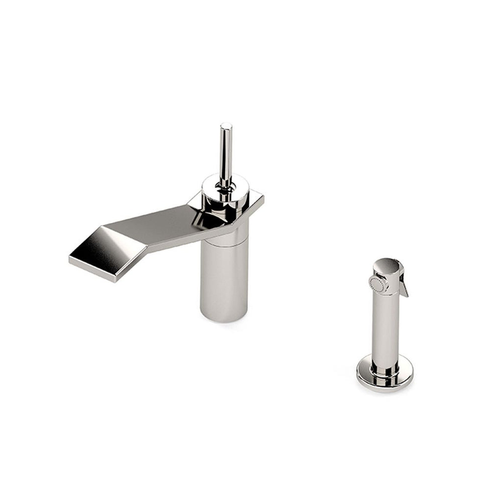 Waterworks Formwork High Profile Kitchen Faucet with Spray in Chrome