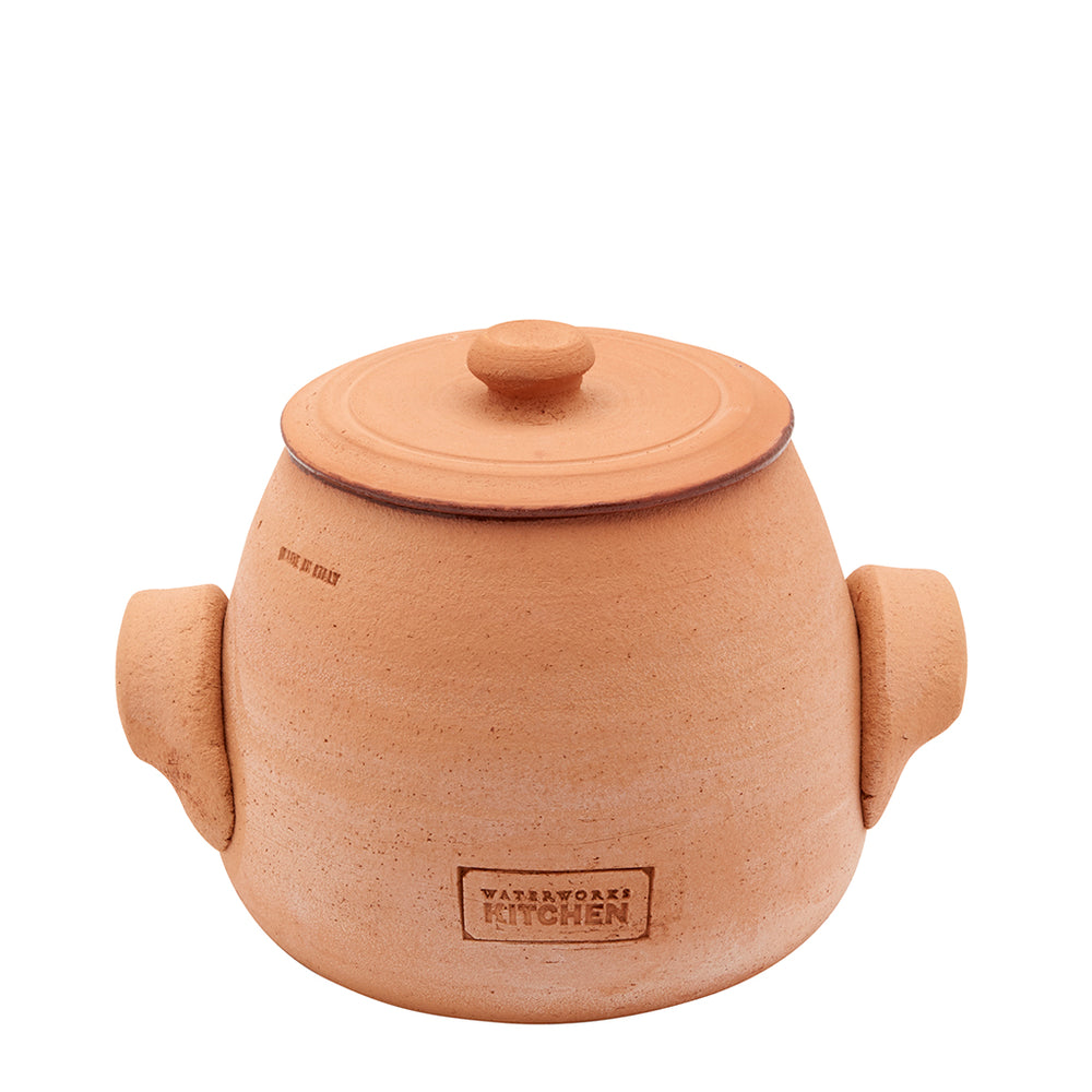 Waterworks Forno Small Covered Pot in Terracotta