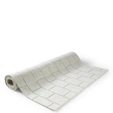 "Waterworks Gridlock Bath Rug 27"" x 55"" in Beige"