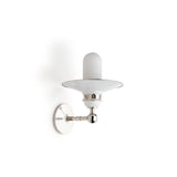 Waterworks Gilbert Wall Mounted Single Arm Sconce with Cylinder Shade in Nickel