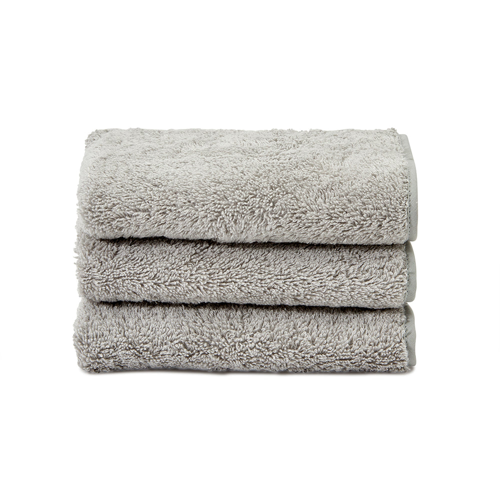 Waterworks Gotham Wash Towel in Pearl with Pearl Trim