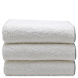 Waterworks Gotham Sheet Towel in White with Gray Trim
