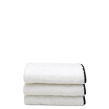 Waterworks Gotham Wash Towel in White with Black Trim