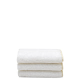 Waterworks Gotham Wash Towel in White with Cream Trim