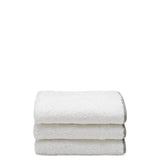 Waterworks Gotham Wash Towel in White with Gray Trim