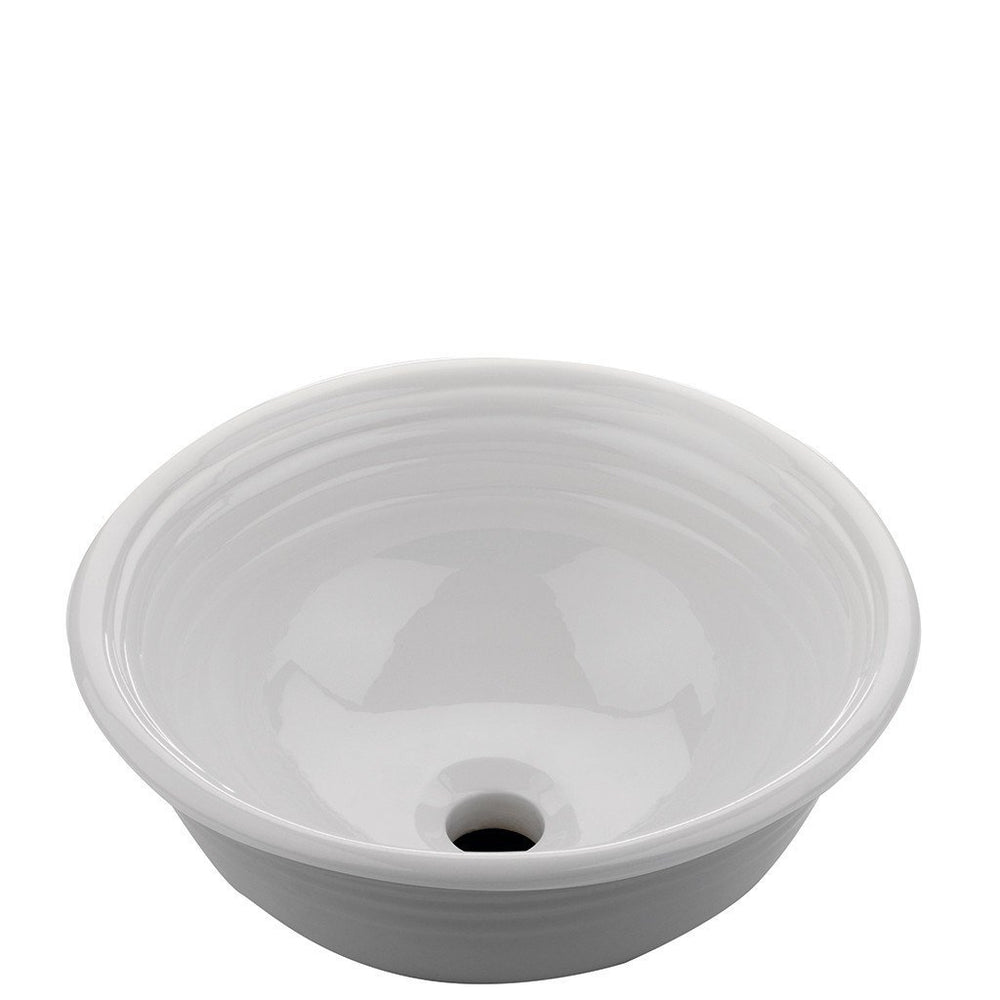 "Hancock Round Vessel Vitreous China Lavatory Sink 15 1/4"" x 15 1/4"" x 6 13/16"" in Cool White"