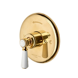 Waterworks Highgate Pressure Balance Control Valve Trim in Brushed Copper