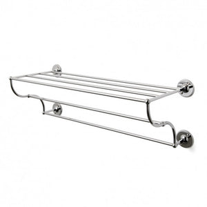 "Waterworks Highgate 24"" Metal Towel Rack in Chrome"