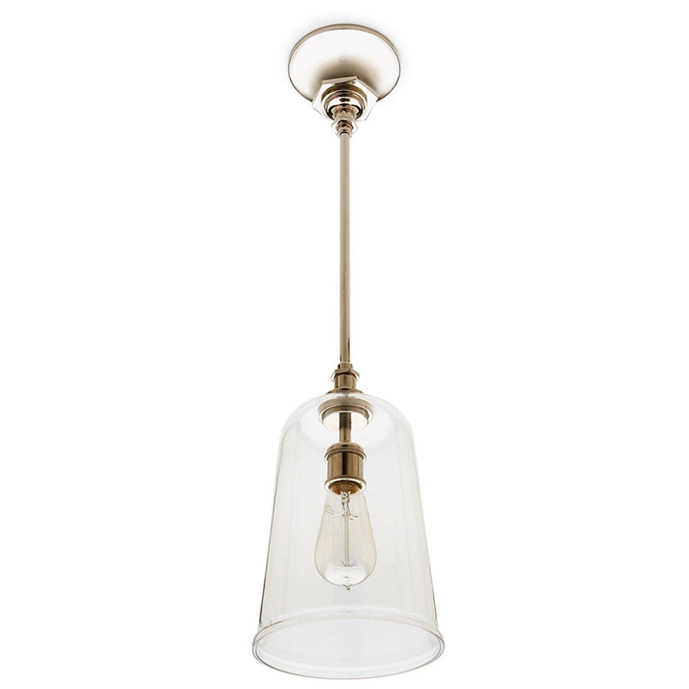 Waterworks Henry Ceiling Mounted Pendant with Glass Shade in Chrome