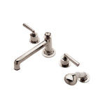 Waterworks Henry Low Profile Tub Filler with Handshower in Nickel