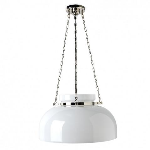 Waterworks Helio Ceiling Mounted Large Pendant with Glass Shade in Old Bronze