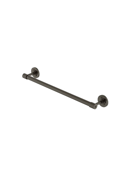 "Waterworks Henry 18"" Single Metal Towel Bar in Architectural Bronze"