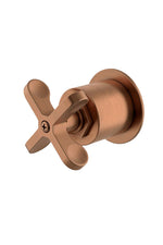 Waterworks Henry Volume Control Valve Trim in Antique Copper