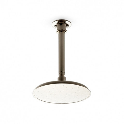 "Waterworks Henry Ceiling Mounted 8"" Shower Head, Arm and Flange in Nickel"