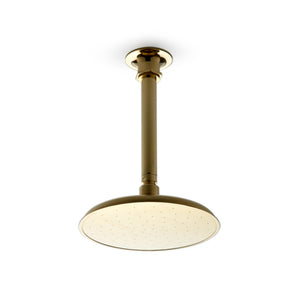 "Waterworks Henry 8"" Ceiling Mounted Rose, Arm and Flange in Vintage Brass"