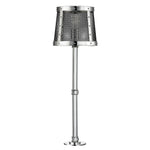 Waterworks Ipswich Counter Mounted Light with Mesh Shade in Nickel
