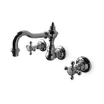 Julia Wall Mounted Bathroom Faucet in Matte Nickel