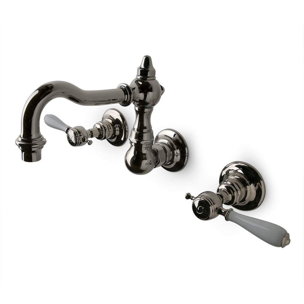 Waterworks Julia High Profile Wall Mounted Lavatory Faucet in Chrome