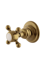 Waterworks Julia Volume Control Valve Trim in Antique Brass