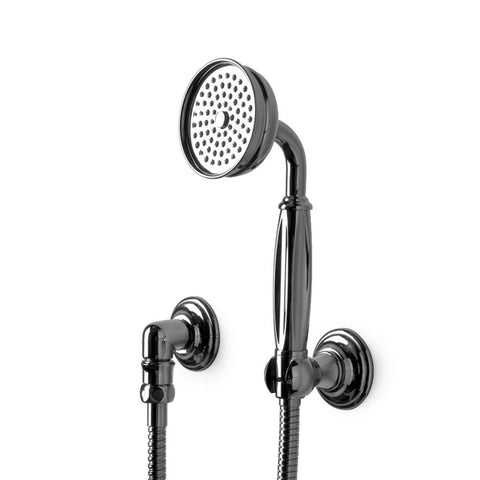 Waterworks Julia Handshower on Hook with Porcelain Handle in Oil Rubbed Bronze