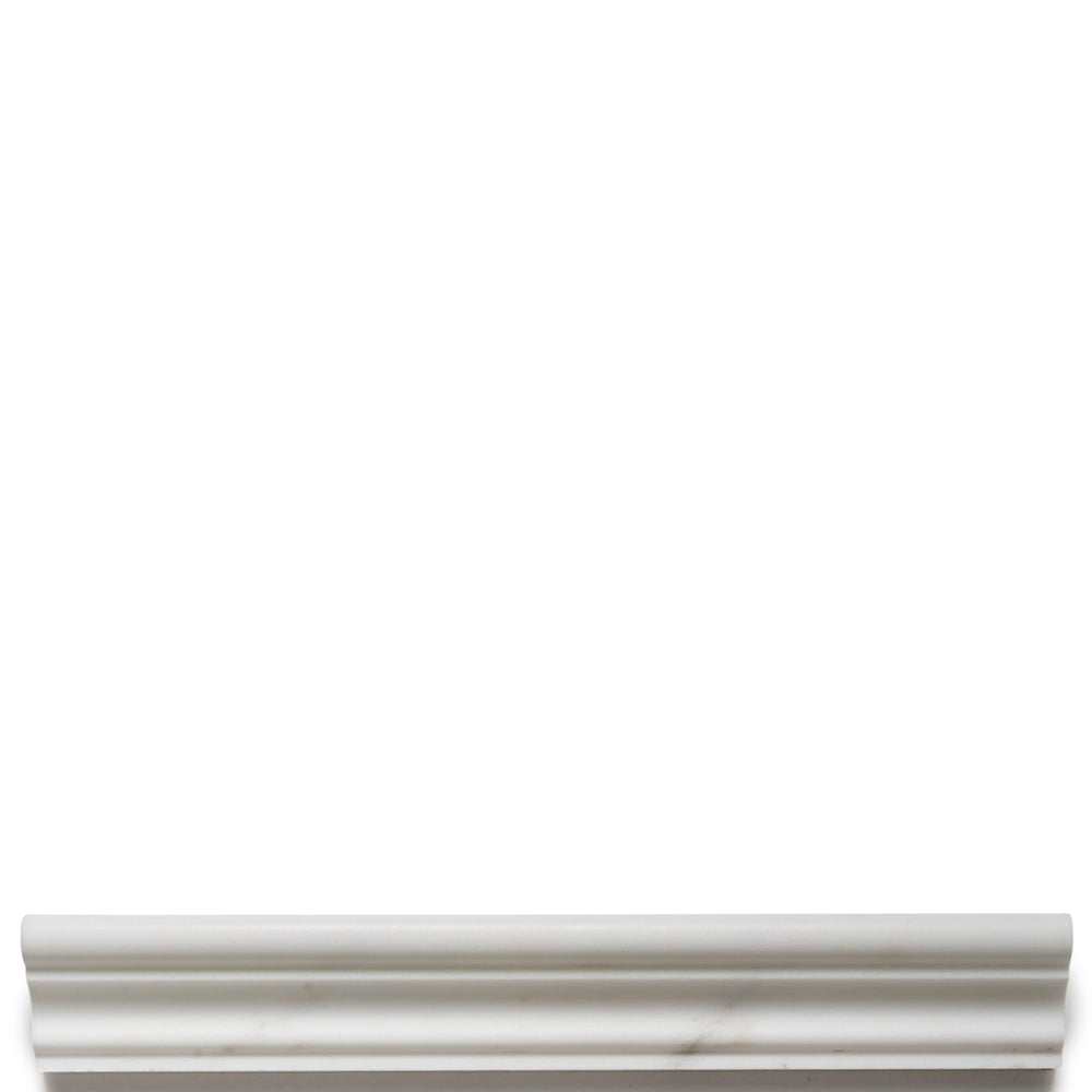 "Waterworks Keystone ""A"" Rail 1 3/4"" x 12"" in Statuary Honed"