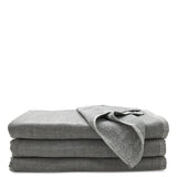 Waterworks Kapas Gauze and Cotton Hand Towel in Gray