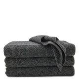 Waterworks Kapas Multi Tone Cotton Blend Wash Towel in Black