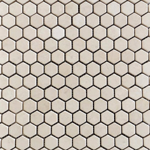 Marble Honeycomb Mosaic Tile in Beige