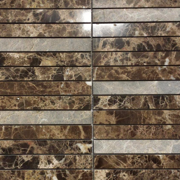 Marble Stretch Mosaic in Brown