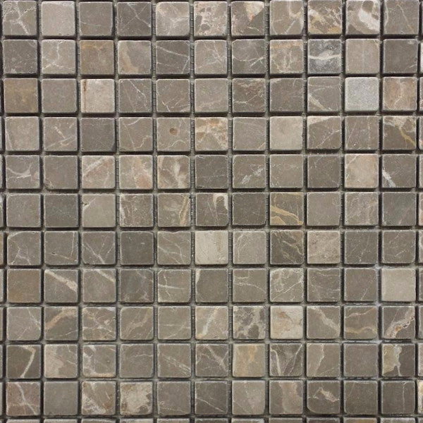 Marble 3/4 x 3/4 Mosaic in Olive Green