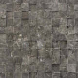 Marble Split Face Mosaic 1 x 1 in Dark Olive Green