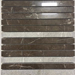 Marble Stretch Mosaic in Dark Olive Green