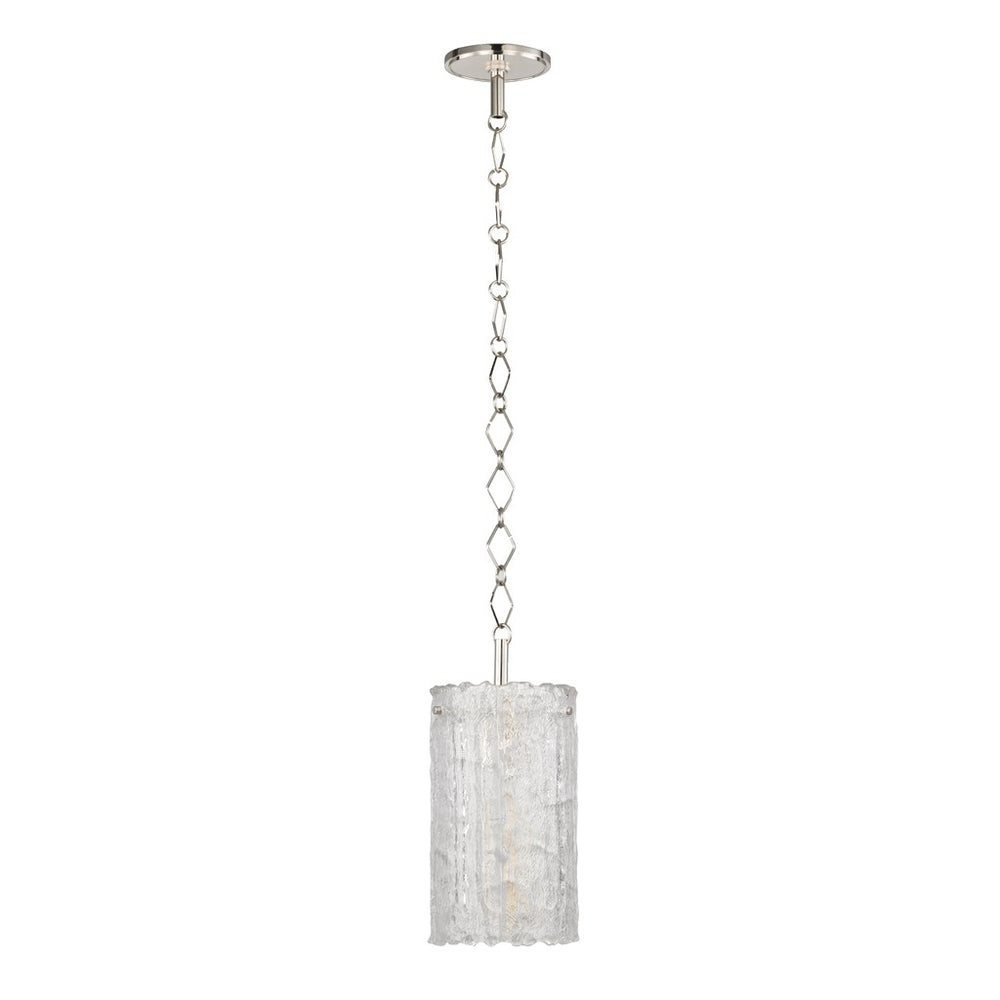 Marlon Ceiling Pendant with Glass Shade in Unlacquered Brass