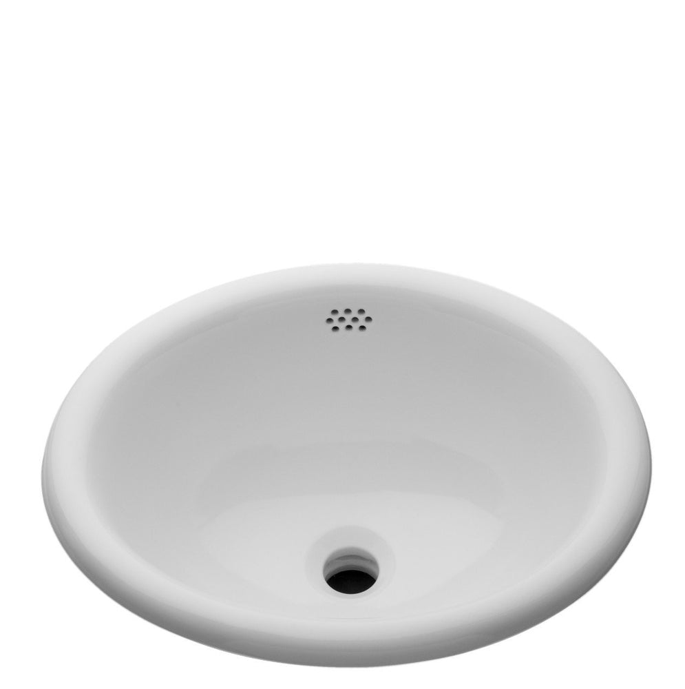 Waterworks Manchester Drop In Oval Vitreous China Lavatory Sink Double Glazed in White